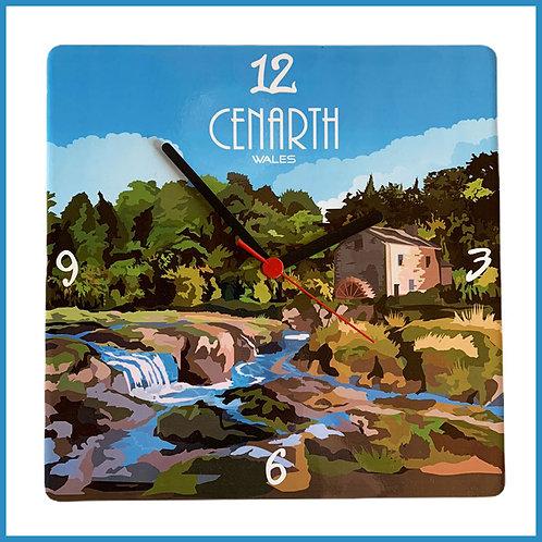 Cenarth Retro Design Wooden Clock
