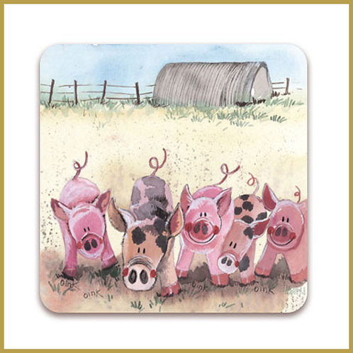 Alex Clark Coaster C37 Five Little Pigs