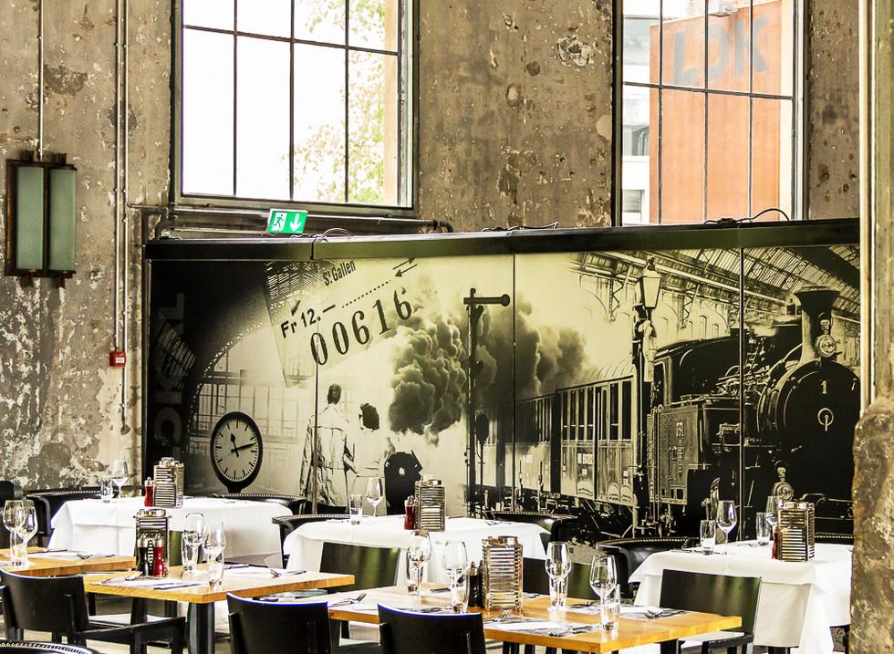 """Kulturfotografie - Wettbewerb 2018 """" Lokremis St. Gallen """". Das Restaurant."""