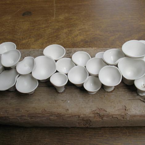 Gedraaide porseleinen paddenstoelen