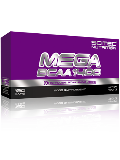 Scitec Nutrition Mega BCAA1400, 120Kaps