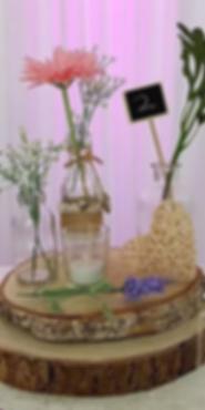 Wood Slice Centrepiece - Wedding Centerpiece Hire in Kent - Venue Decoration in Kent
