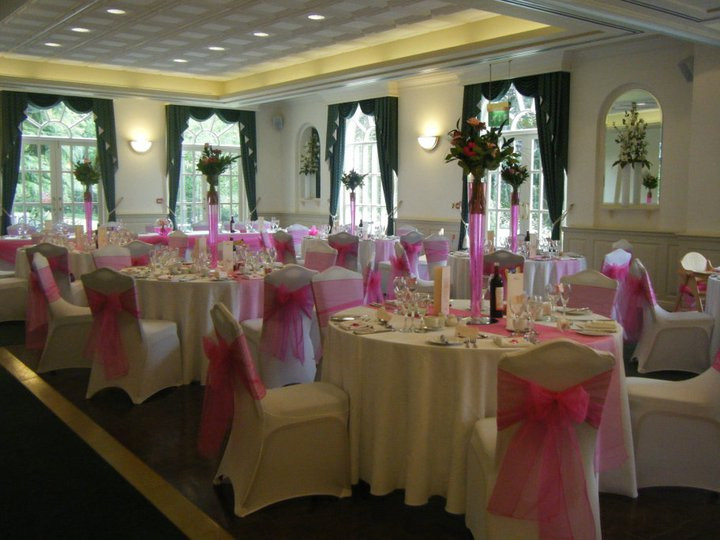 Beautiful Wedding Decoration in Venue, Chair covers kent