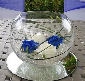 Fish Bowl Centrpiece - Venue Decoration Kent Essex Sussex Surrey London
