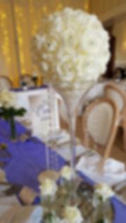 Martini Flower Ball Centrepiece - Wedding Centerpiece Hire in Kent - Venue Decoration in Kent