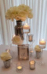 Candlelight Blooms Centrepiece - Exquisite Collection - Venue Decoration Kent Essex Sussex Surrey London