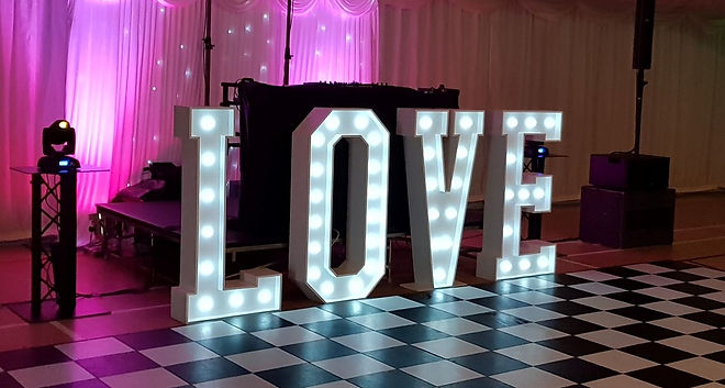 Giant 4ft Light Up Letter Hire in Kent