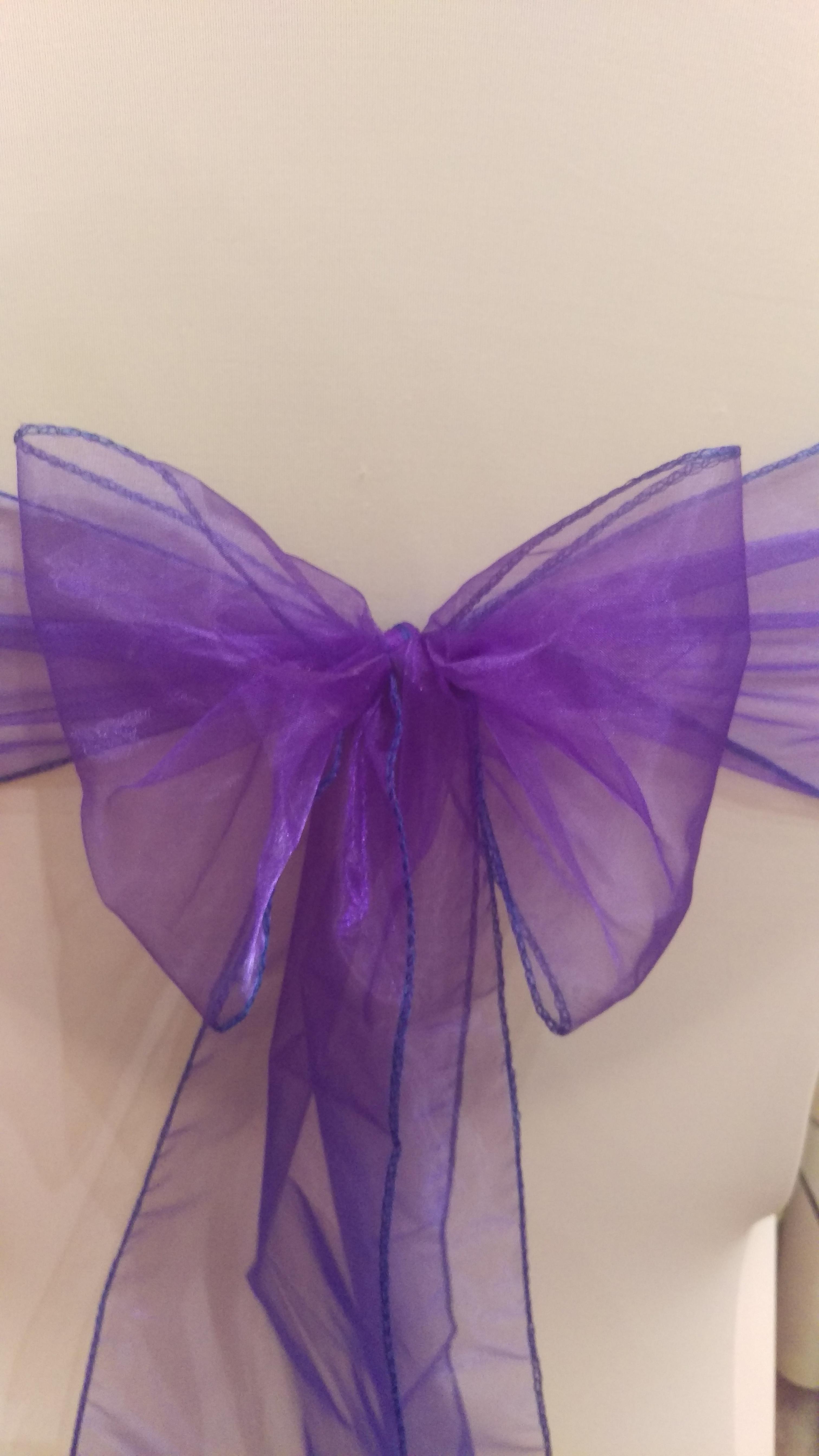 Purple Organza Sash #13