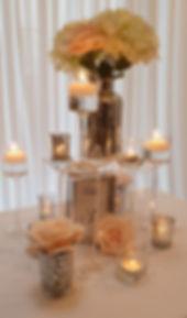 Candlelight Blooms Centrepiece - Exquisite Collection - Venue Decoration Kent Essex Sussex Surrey