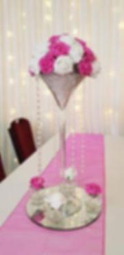 Martini Rose Dome Centrepiece - Wedding Centerpiece Hire in Kent - Venue Decoration in Kent