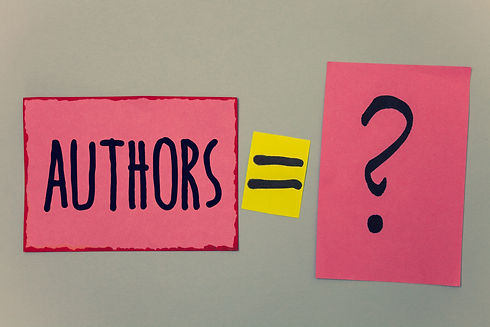 Conceptual hand writing showing Authors.