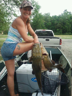 Rhonda with more Getter catches