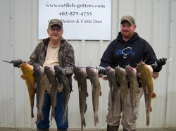 Dale and Cam with one mornings catch