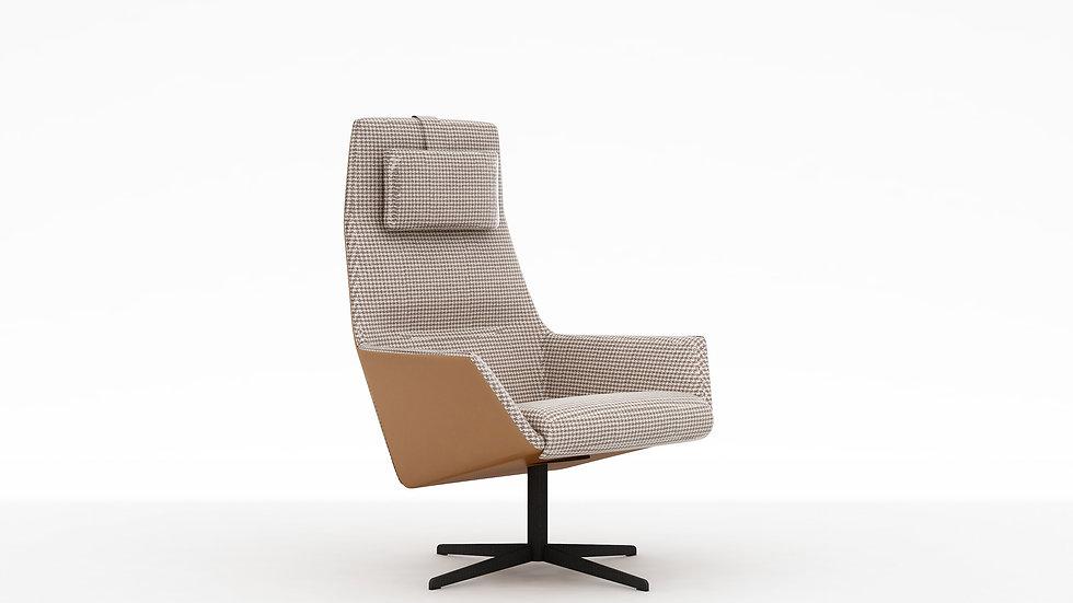 Qing High Back Swivel Chair