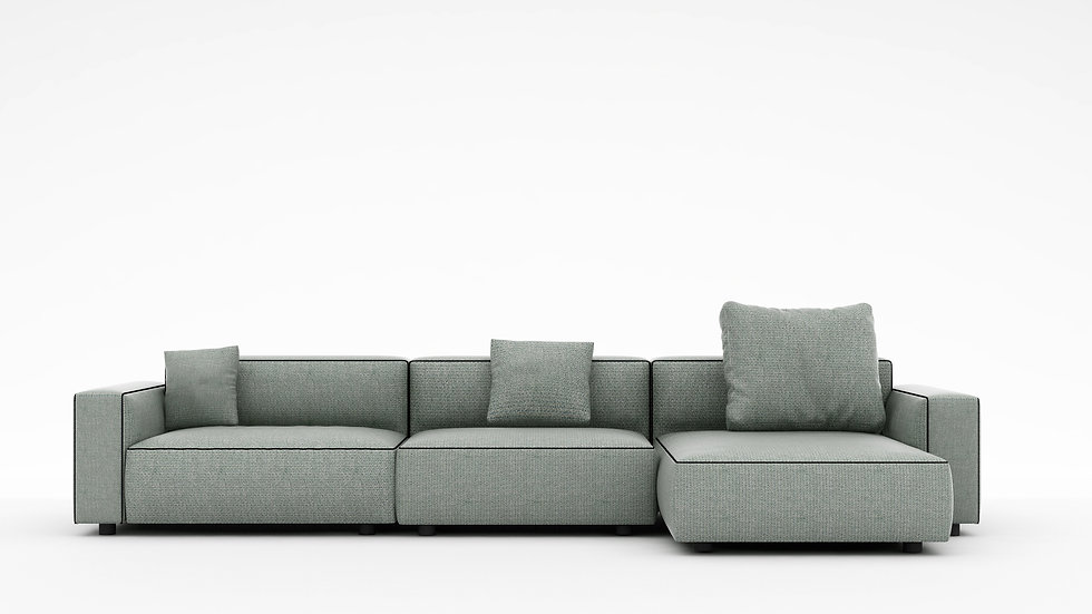 Rubix Sectional Sofa - RAF