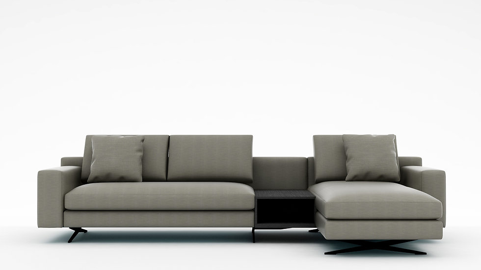 Wake Sectional with Side Table - 125""