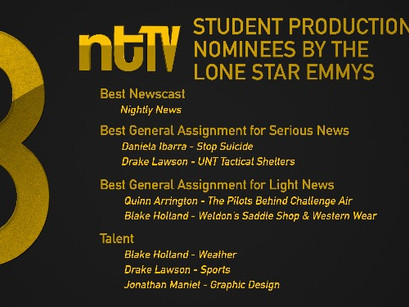 UNT Media Arts Students collect eight Student Production Lone Star Emmy Nominations