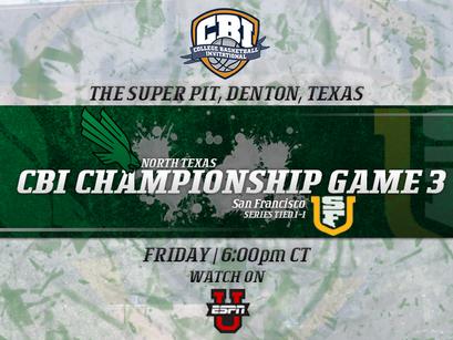 CBI Championship: Game 3 Preview