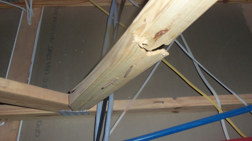 Damaged truss new home