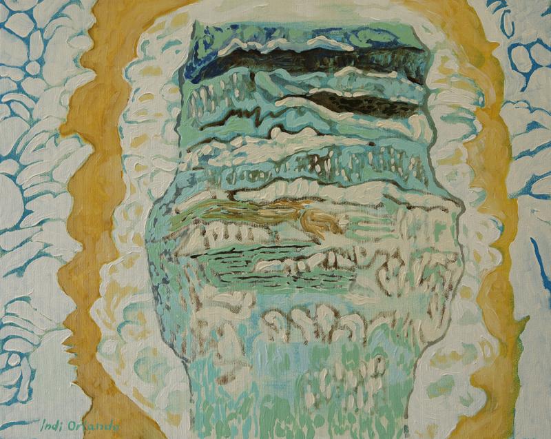 Palme accarezzante della brezza di mare