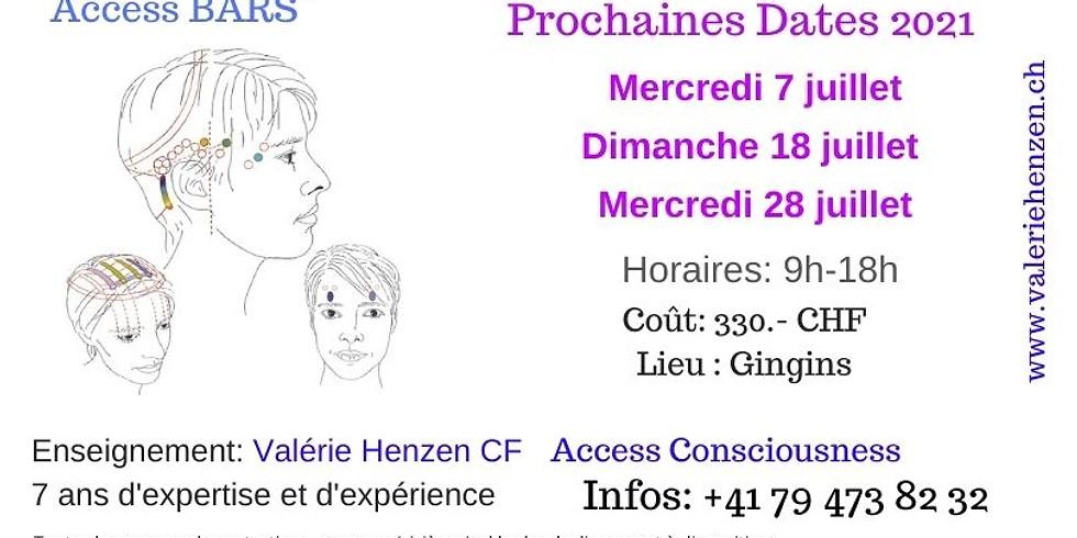 Access Bars Mercredi 7 juillet 2021 à Gingins