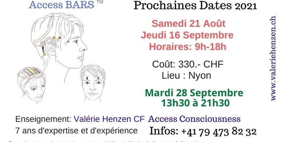 Access Bars Samedi 21 Août 2021 à Nyon