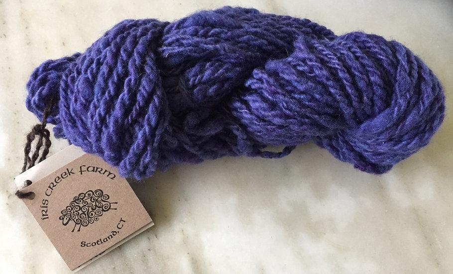 Cobalt Blue hand spun yarn