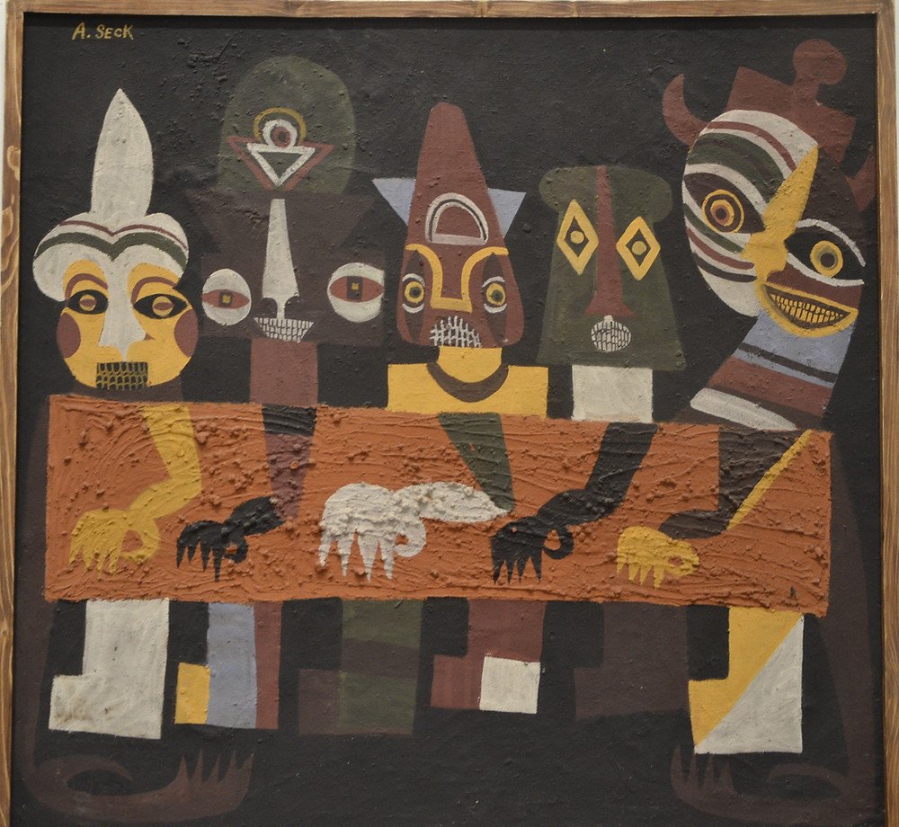 Painting by Amadou Seck of the Dakar School