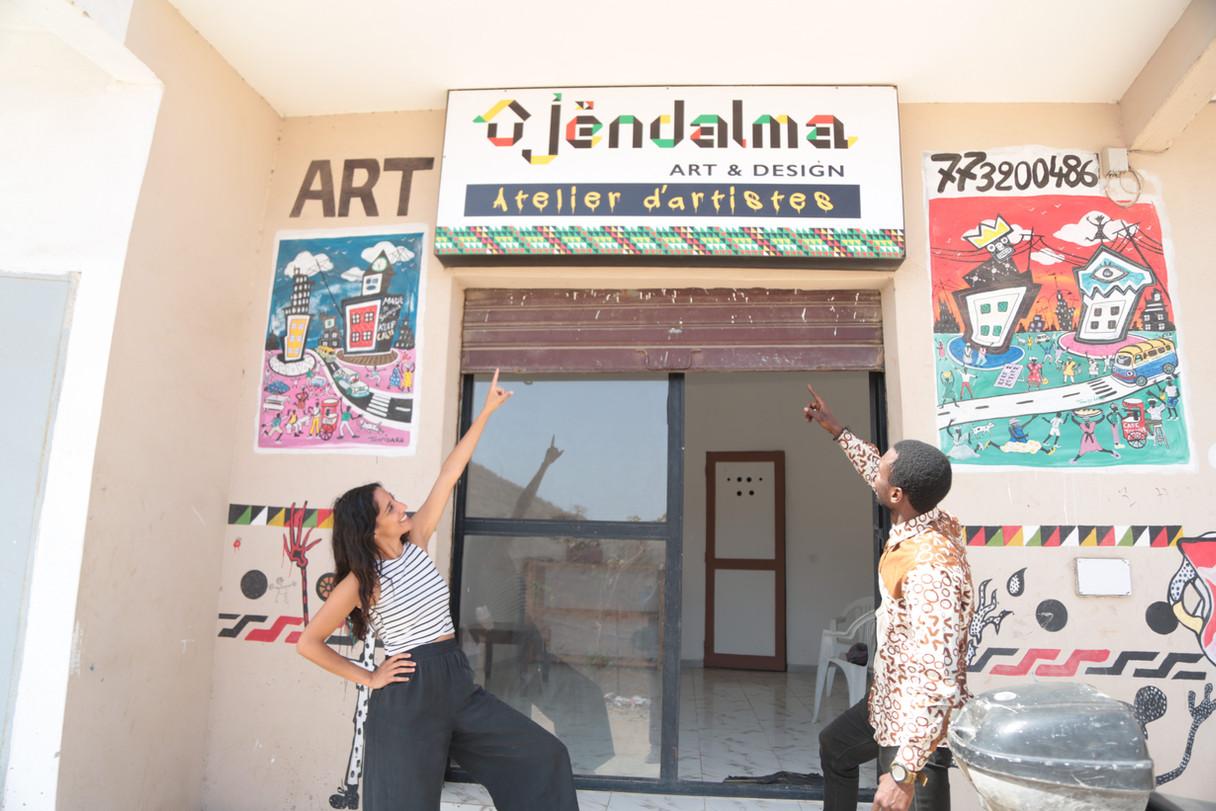 Entrée en résidence Mikita El Bachir atelier