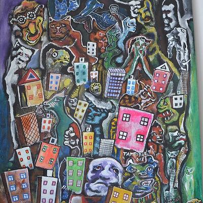 Superbe oeuvre de l'artiste émergent Tampidaro