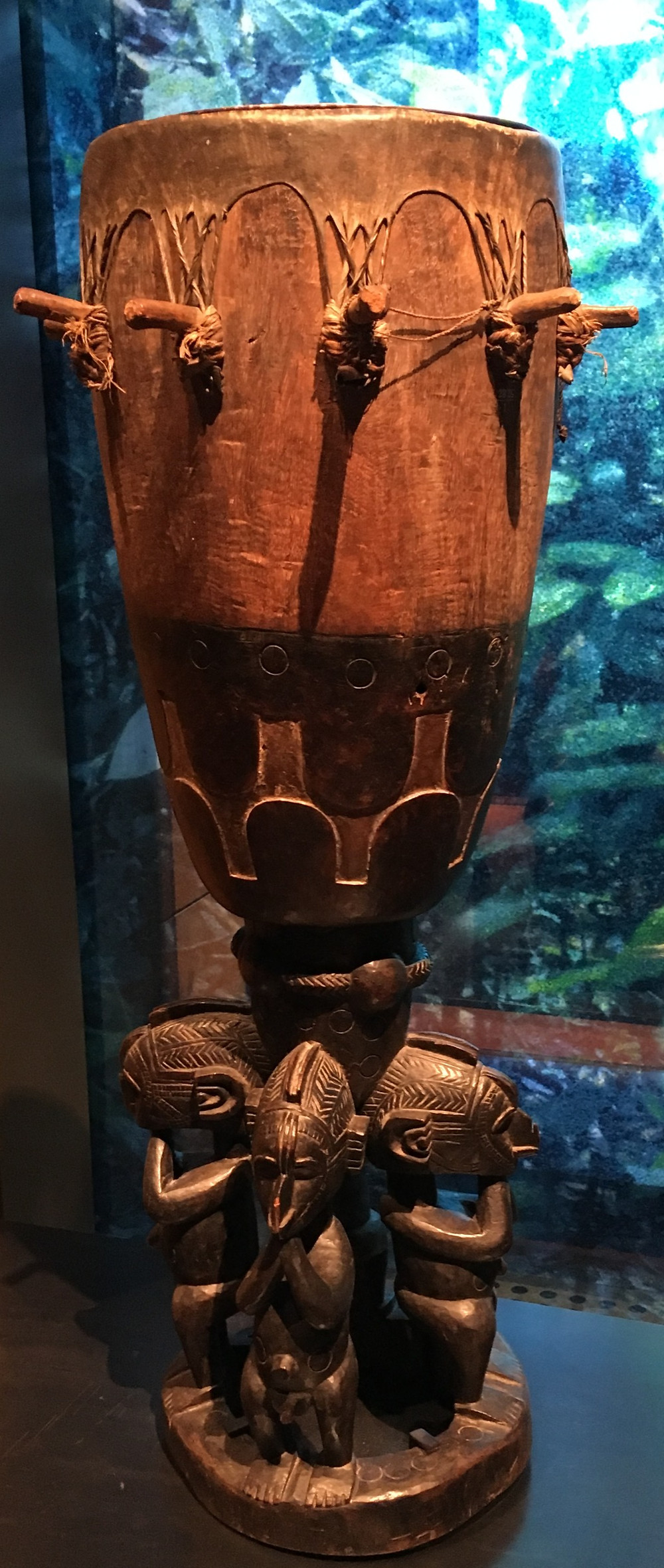 Timba drum of the Baga population in Guinea at the Quai Branly Museum