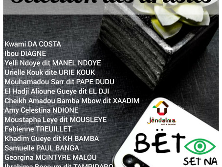 14 artistes sélectionnés pour l'action Bët set na