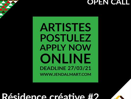 APPEL À CANDIDATURES Résidence Créative #2