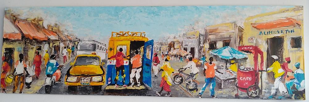 Les touches impressionistes de l'artiste-peintre sénégalais Ibou Diagne