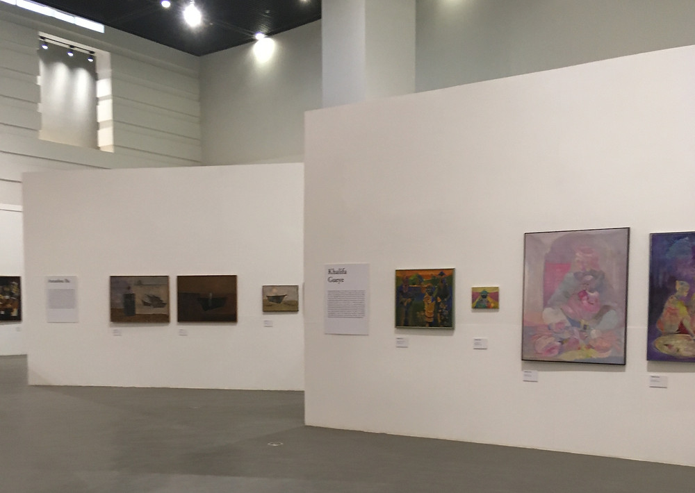 Salle de la grande exposition sur l'Ecole de Dakar au Musée des Civilisations Noires
