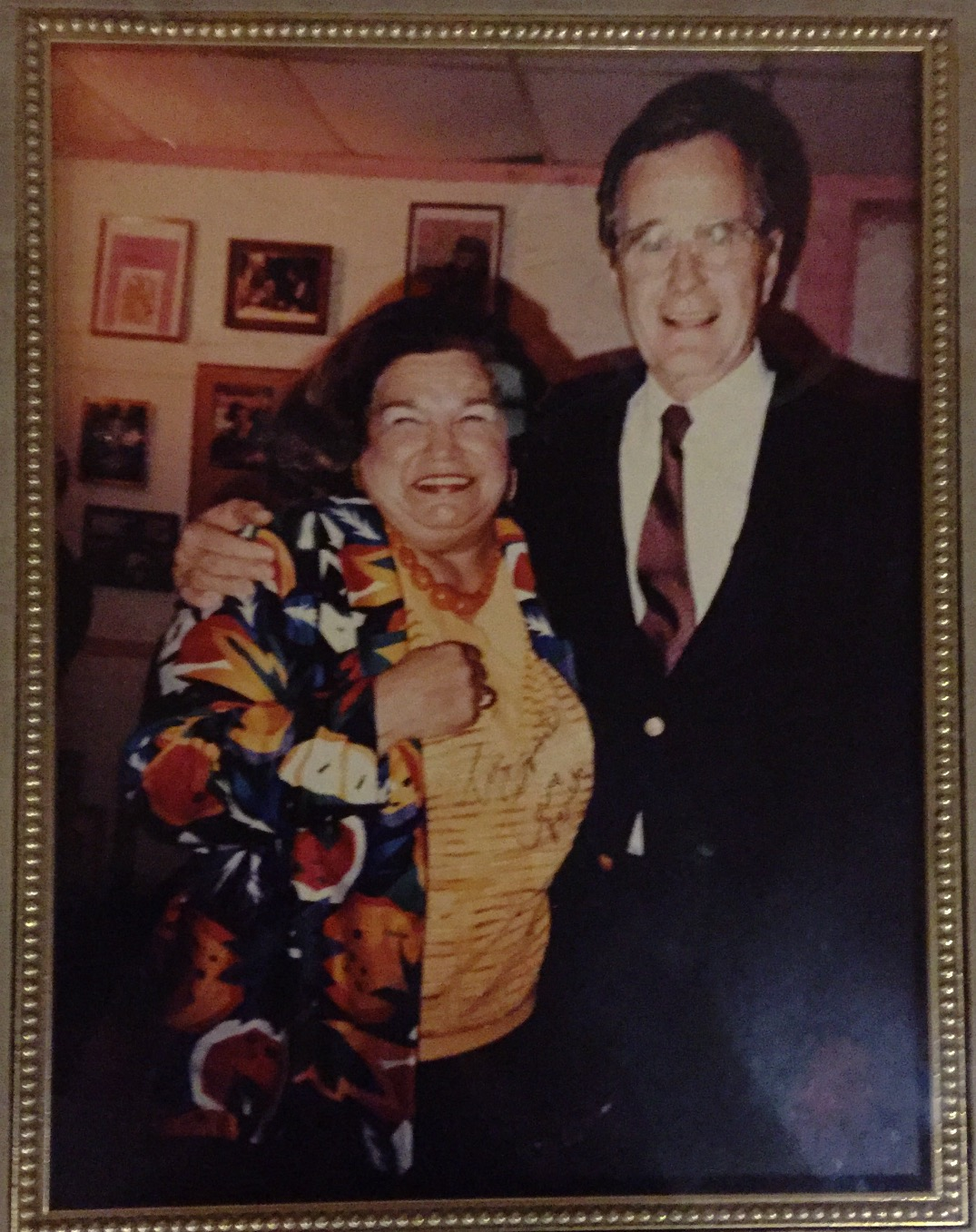 Mama & President George Bush