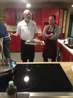 Chef Dan and Dr. Brown