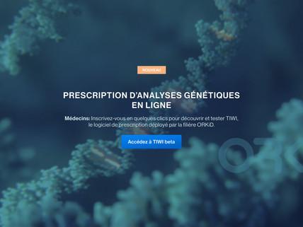 La filière ORKiD choisit TIWI pour l'organisation des demandes d'analyse génétique.