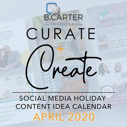 April Content Idea Calendar