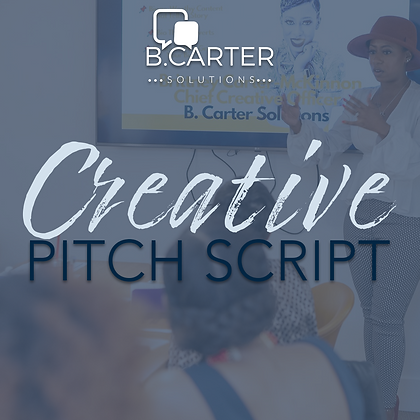 Creative Pitch Script