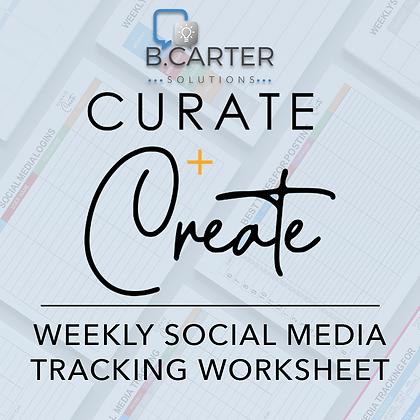 Social Media Tracking Worksheet