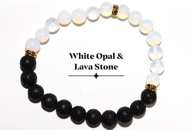 White Opal Lava Stone