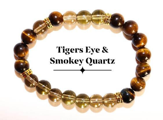 Tigers Eye & Smokey Quartz