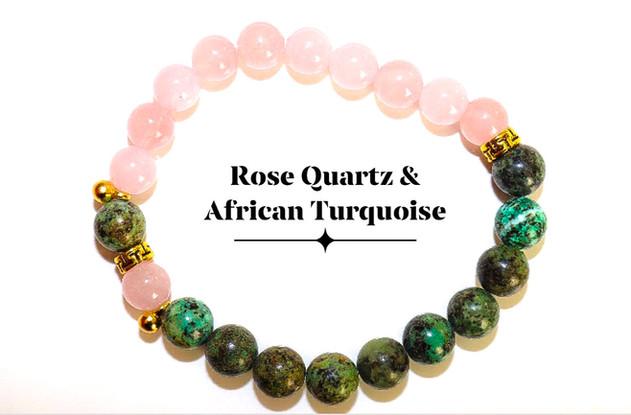 Rose Quartz African Turquoise
