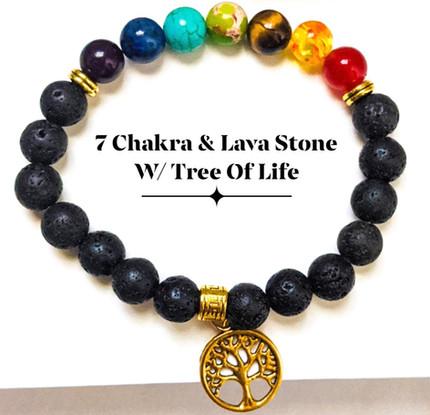 7 Chakras & Lava Stone
