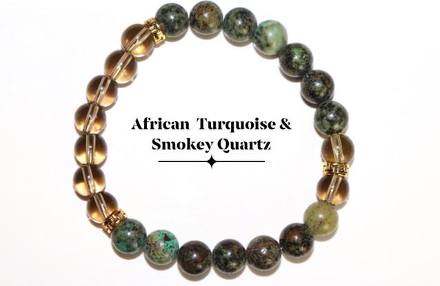 African Turquoise & Smokey Quartz