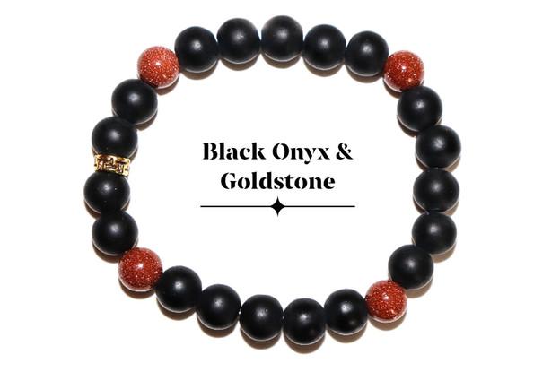 Black Onyx Gold Stone