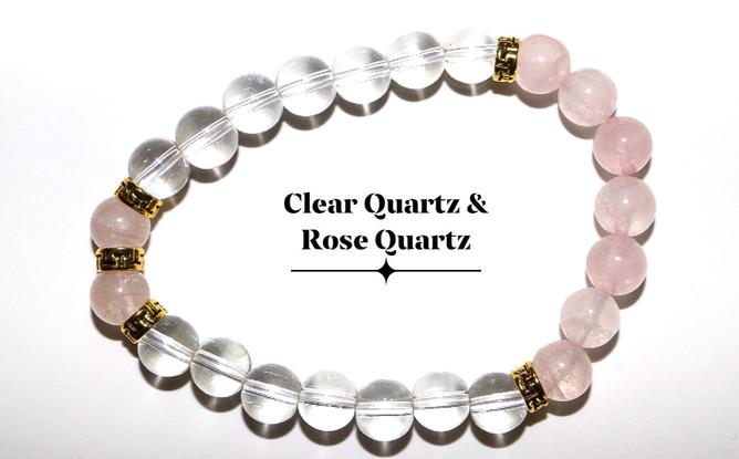 Rose Quartz Clear Quartz
