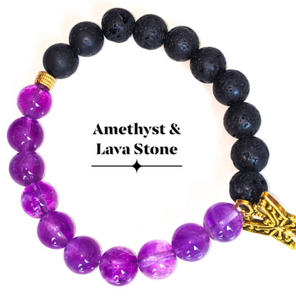 Amethyst & Lava Stone