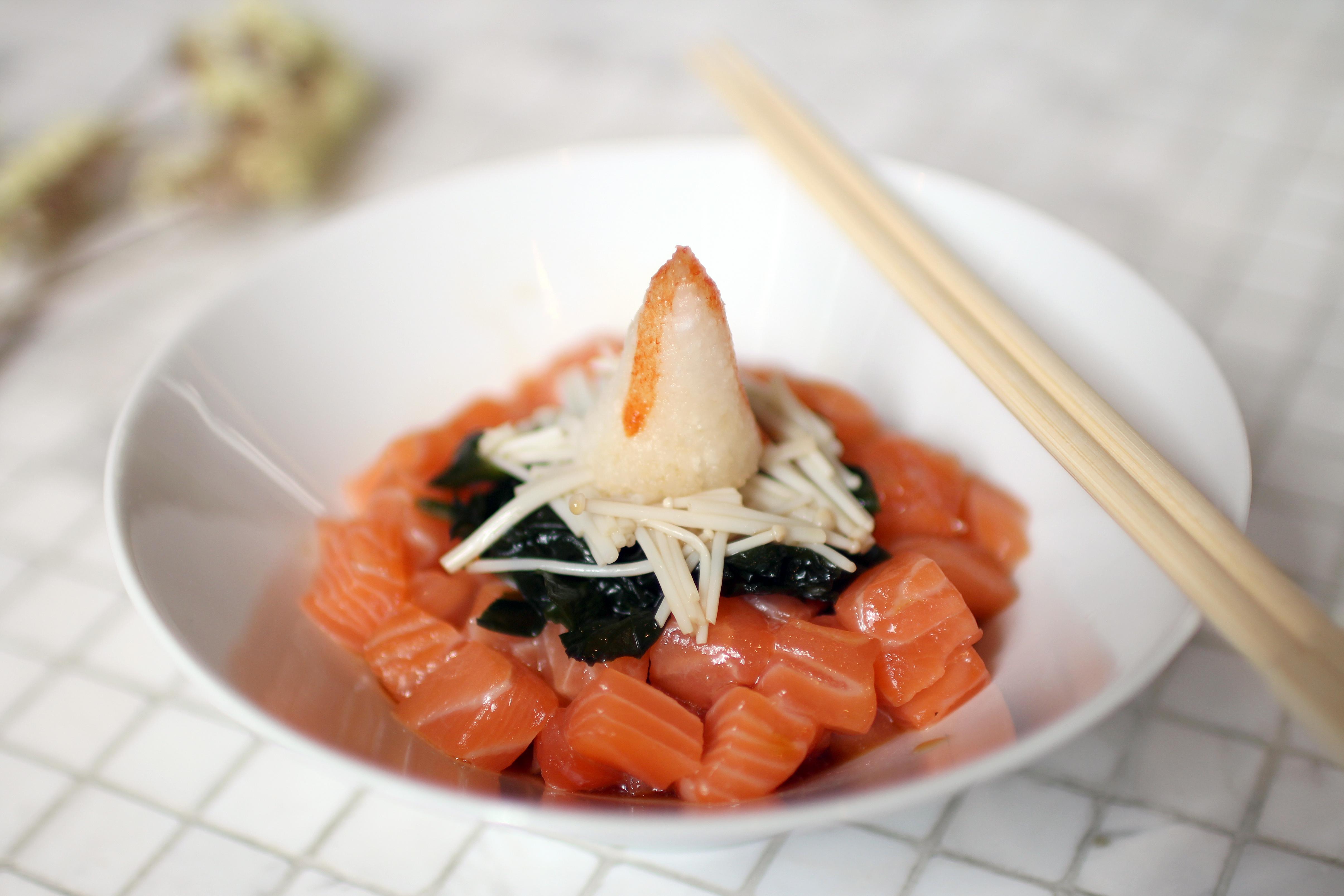 salmon wakame ponzu sauce